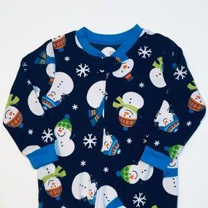 Carter's Winter Fleece Footie Pajamas Snowmen 3T